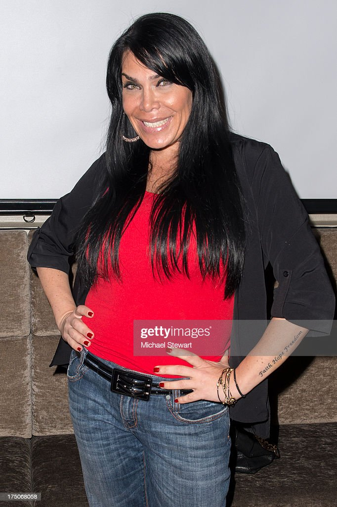TV personality <a gi-track='captionPersonalityLinkClicked' href=/galleries/search?phrase=Renee+Graziano&family=editorial&specificpeople=7643222 ng-click='$event.stopPropagation()'>Renee Graziano</a> attend dinner and a movie at KTCHN Restaurant on July 30, 2013 in New York City.