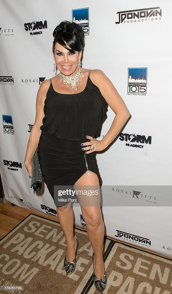 TV Personality Renee Graziano attends Renee Graziano's Celebrity Dinner Party at Midtown 1015 on July 10, 2013 in New York City.
