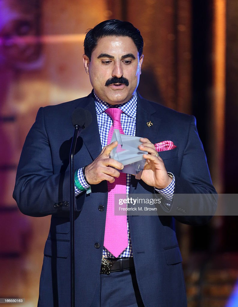 TV personality <a gi-track='captionPersonalityLinkClicked' href=/galleries/search?phrase=Reza+Farahan&family=editorial&specificpeople=9012581 ng-click='$event.stopPropagation()'>Reza Farahan</a> attends the 2013 NewNowNext Awards at The Fonda Theatre on April 13, 2013 in Los Angeles, California.
