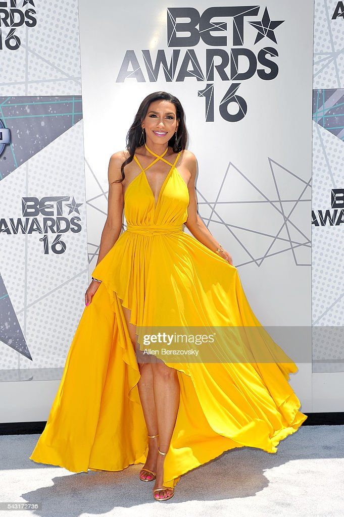 TV personality Rhonda Wills attends the 2016 BET Awards at Microsoft Theater on June 26, 2016 in Los Angeles, California.