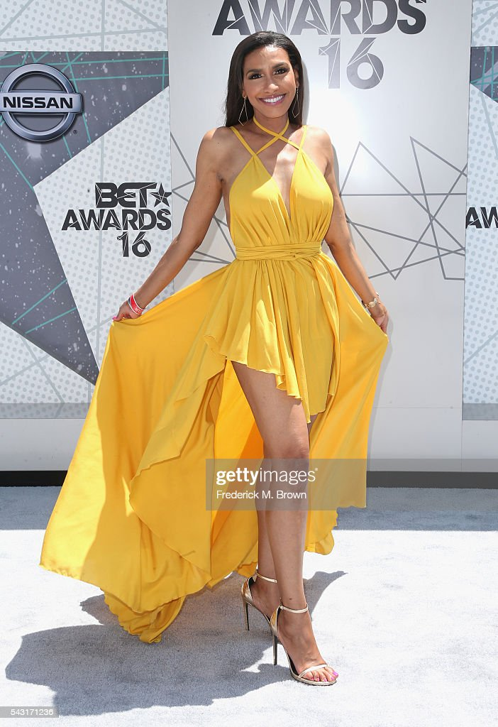TV personality Rhonda Wills attends the 2016 BET Awards at the Microsoft Theater on June 26, 2016 in Los Angeles, California.