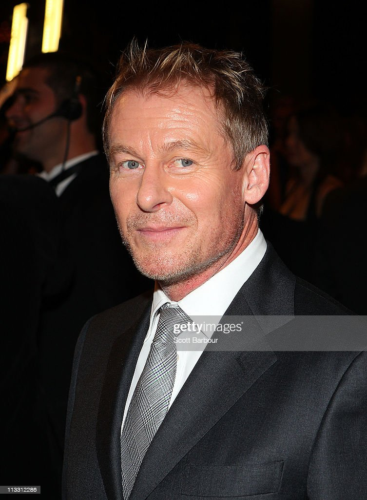 TV personality <a gi-track='captionPersonalityLinkClicked' href=/galleries/search?phrase=Richard+Roxburgh&family=editorial&specificpeople=799045 ng-click='$event.stopPropagation()'>Richard Roxburgh</a> arrives on the red carpet ahead of the 2011 Logie Awards at Crown Palladium on May 1, 2011 in Melbourne, Australia.