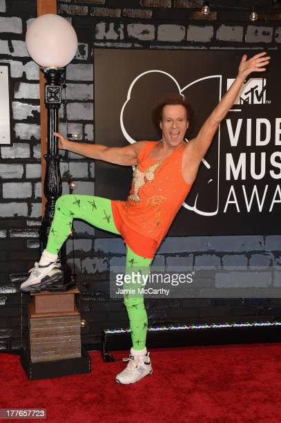 Personality Richard Simmons attends the 2013 MTV Video Music Awards at the Barclays Center on August 25 2013 in the Brooklyn borough of New York City