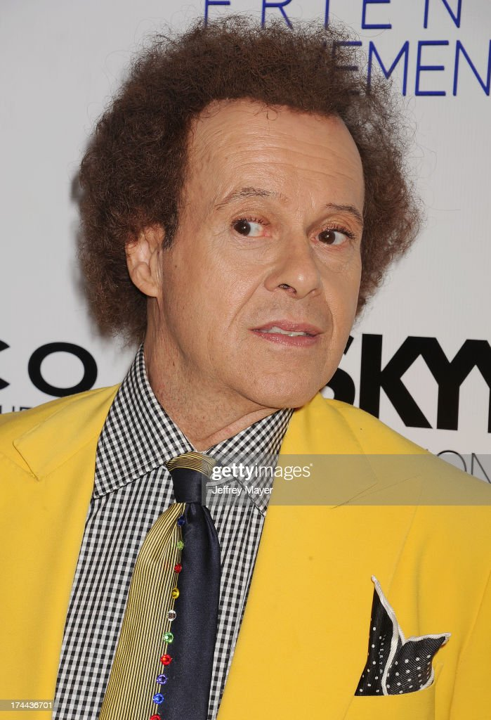 TV Personality <a gi-track='captionPersonalityLinkClicked' href=/galleries/search?phrase=Richard+Simmons&family=editorial&specificpeople=228501 ng-click='$event.stopPropagation()'>Richard Simmons</a> attends the Friend Movement Anti-Bullying Benefit Concert at the El Rey Theatre on July 1, 2013 in Los Angeles, California.