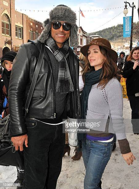 TV personality Rick Fox and actress Eliza Dushku seen around Main Street during the 2011 Sundance Film Festival on January 22 2011 in Park City Utah
