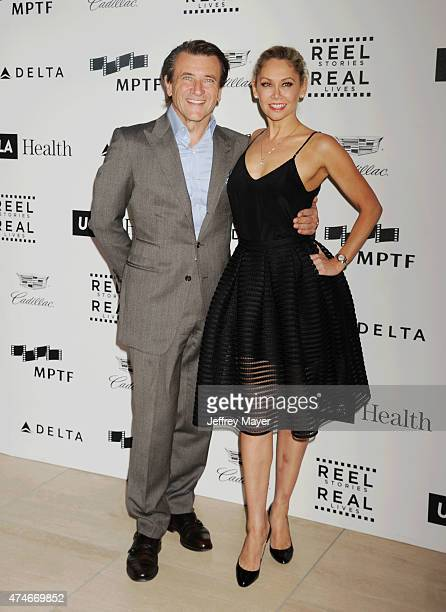 TV personality Robert Herjavec and professional dancer Kym Johnson arrive at the 4th Annual Reel Stories Real Lives event benefiting the Motion...