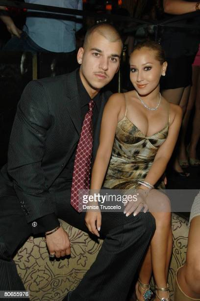 TV personality Robert Kardashian and actress/singer Adrienne Bailon attends Jason Strauss' birthday and Christian Siriano hosting at TAO Nightclub in...