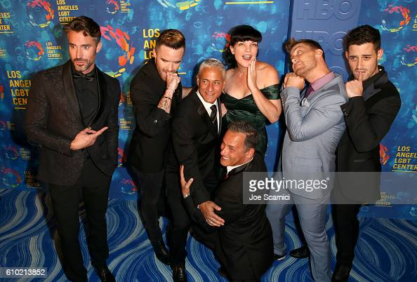 TV personality Robert Sepulveda Jr singer Brian Justin Crum Olympic diver Greg Louganis Johnny Chaillot actress Pauley Perrette tv personality Lance...