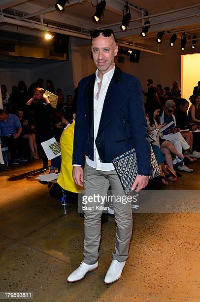 TV personality Robert Verdi attends the Costello Tagliapietra show during Spring 2014 MADE Fashion Week at Milk Studios on September 5 2013 in New...