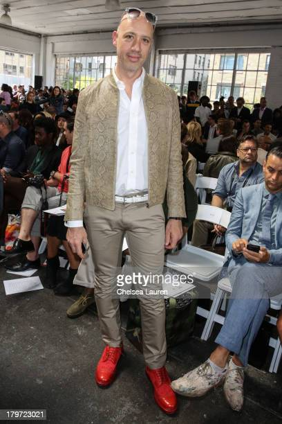 TV personality Robert Verdi attends the Duckie Brown fashion show during MercedesBenz Fashion Week Spring 2014 at Industria Superstudio on September...
