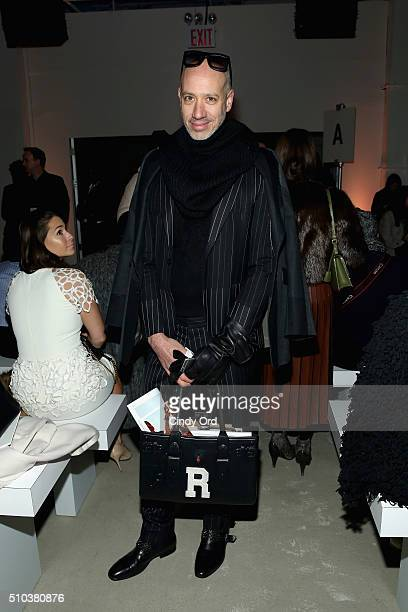 Personality Robert Verdi attends the Lela Rose Fall 2016 fashion show during New York Fashion Week The Shows at The Gallery Skylight at Clarkson Sq...