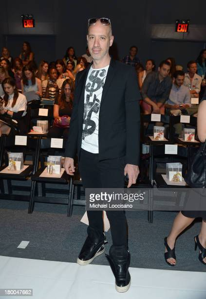 TV personality Robert Verdi attends the Lela Rose fashion show during MercedesBenz Fashion Week Spring 2014 at The Studio at Lincoln Center on...
