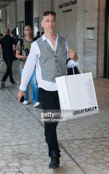 TV personality Robert Verdi is seen at the Lincoln Center during MercedesBenz Fashion Week Spring 2015 on September 10 2014 in New York City