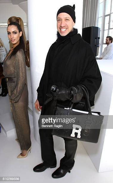 TV personality Robert Verdi poses during SheaMoisture at Laquan Smith F/W 2016 NYFW at Jack Studios on February 14 2016 in New York City