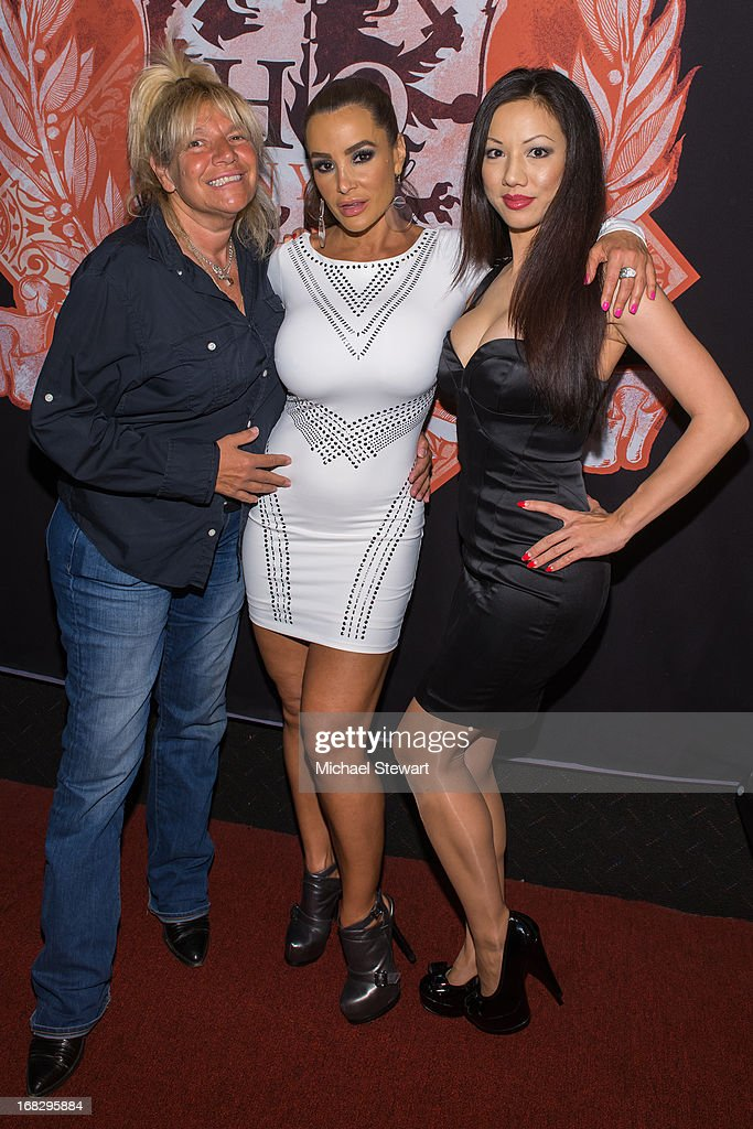 TV personality Robin Byrd with adult actresses Lisa Ann and Jade Vixen attend Lisa Ann's Birthday Celebration at Headquarters on May 7, 2013 in New York City.