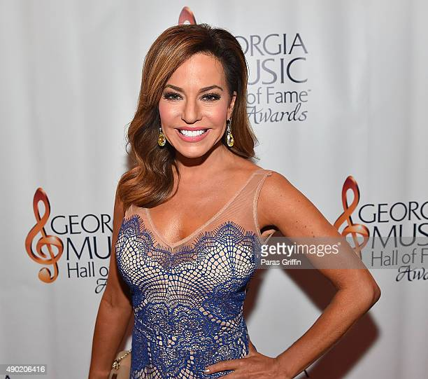 TV personality Robin Meade attends 2015 Georgia Music Hall Of Fame Awards at Georgia World Congress Center on September 26 2015 in Atlanta Georgia