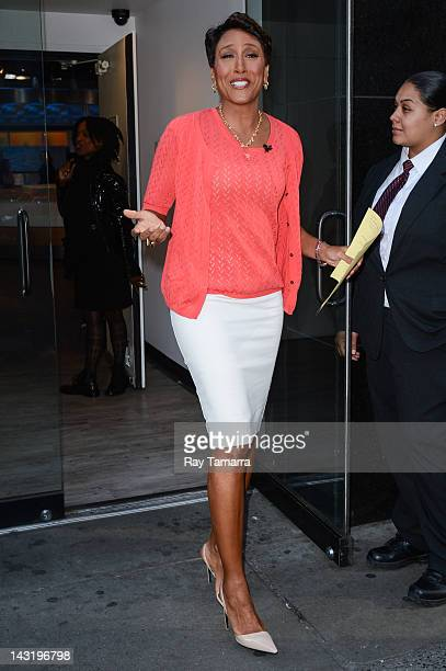 TV personality Robin Roberts hosts the 'Good Morning America' taping at the ABC Times Square Studios on April 20 2012 in New York City