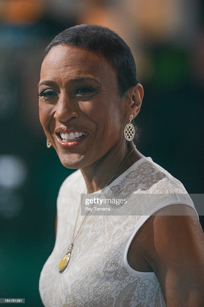 TV personality Robin Roberts hosts the 'Good Morning America' taping at the ABC Times Square Studios on March 27, 2013 in New York City.