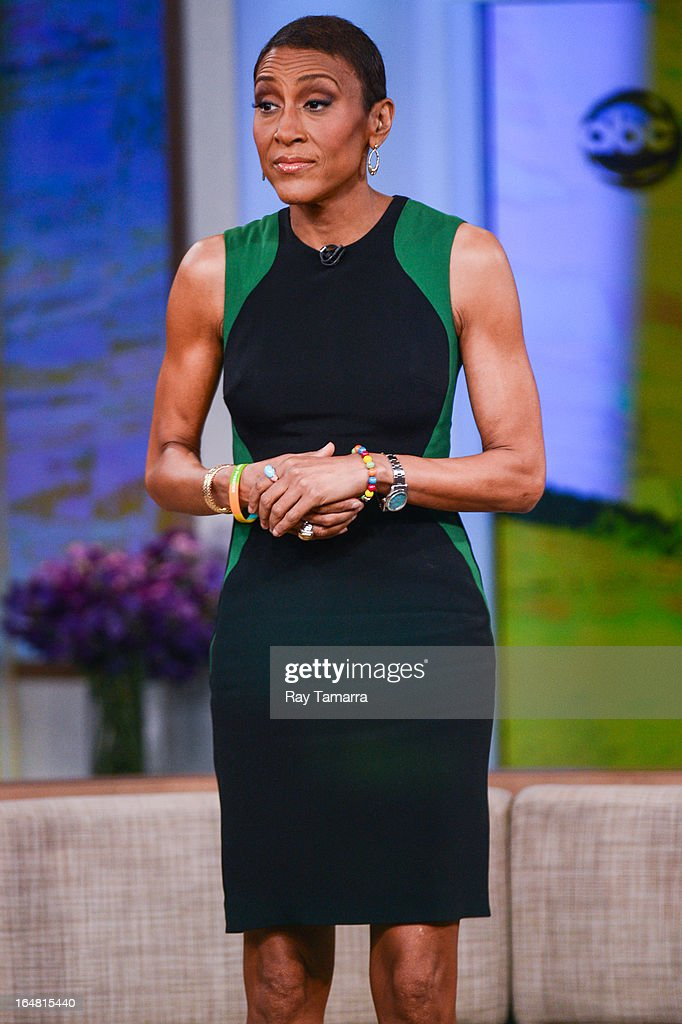TV personality Robin Roberts hosts the 'Good Morning America' taping at the ABC Times Square Studios on March 28, 2013 in New York City.