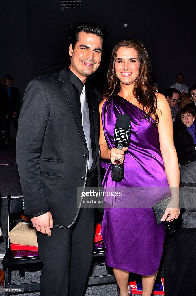 TV personality Rocco Leo Gaglioti and actress Brooke Shields attend Son Jung Wan during Fall 2013 Mercedes-Benz Fashion Week at The Studio at Lincoln Center on February 9, 2013 in New York City.