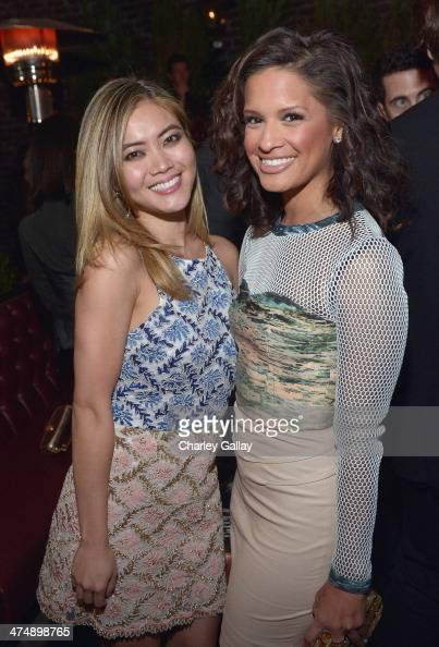 TV personality Rocsi Diaz and actress Jessica Lu attend Vanity Fair and FIAT celebration of 'Young Hollywood' during Vanity Fair Campaign Hollywood...