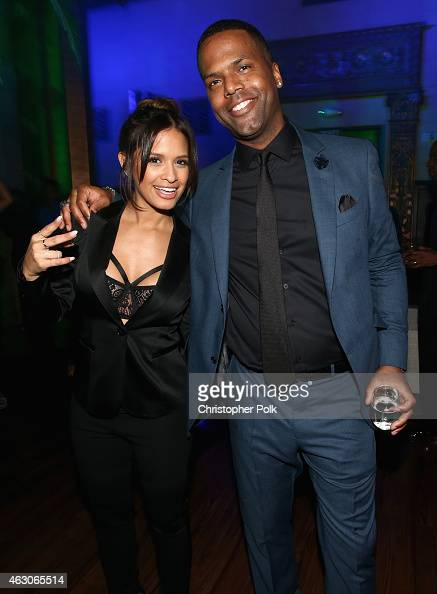 TV personality Rocsi Diaz and AJ Calloway attend the I am Other And Adidas' Grammy Party To Celebrate Pharrell Williams at Park Plaza Hotel on...