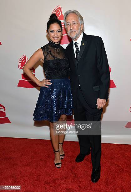 TV personality Rocsi Diaz and President/CEO of The Recording Academy and GRAMMY Foundation President/CEO Neil Portnow attend the 2014 Person of the...