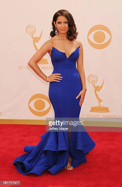 TV personality Rocsi Diaz arrives at the 65th Annual Primetime Emmy Awards at Nokia Theatre LA Live on September 22 2013 in Los Angeles California