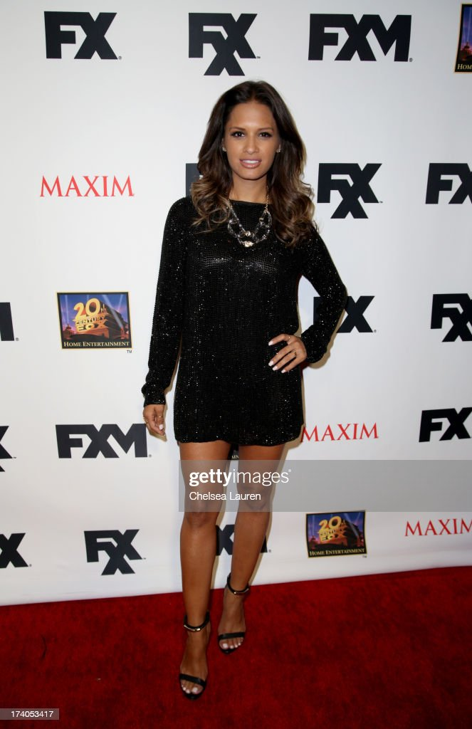 TV personality <a gi-track='captionPersonalityLinkClicked' href=/galleries/search?phrase=Rocsi&family=editorial&specificpeople=747177 ng-click='$event.stopPropagation()'>Rocsi</a> Diaz attends the Maxim, FX and Home Entertainment Comic-Con Party on July 19, 2013 in San Diego, California.