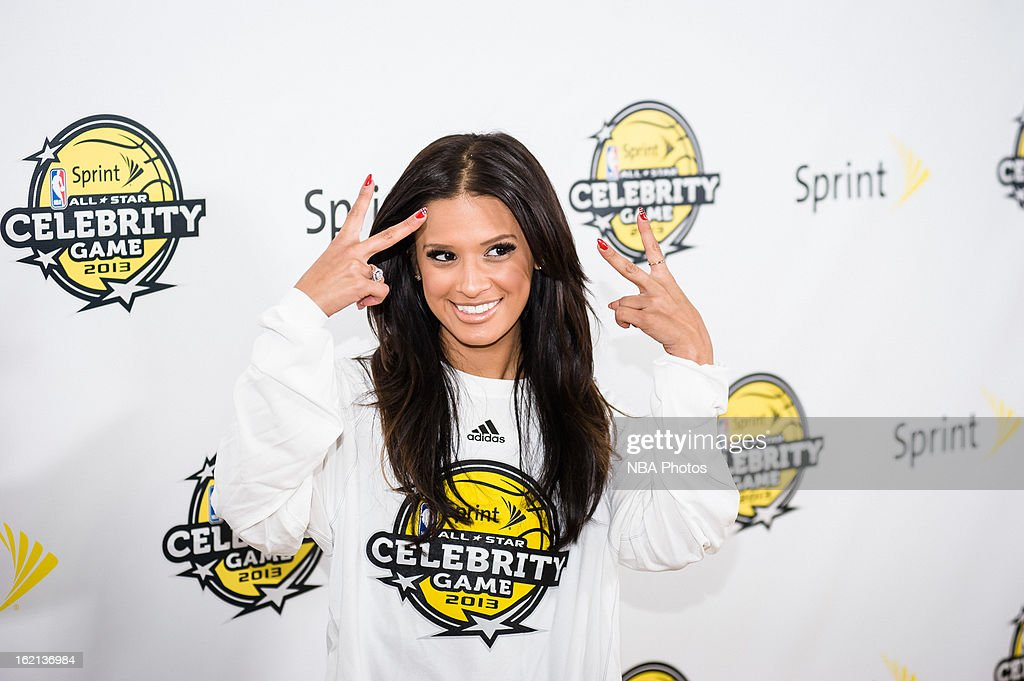 TV Personality <a gi-track='captionPersonalityLinkClicked' href=/galleries/search?phrase=Rocsi&family=editorial&specificpeople=747177 ng-click='$event.stopPropagation()'>Rocsi</a> Diaz poses on the red carpet prior to the Sprint NBA All-Star Celebrity Game in Sprint Arena at Jam Session during the NBA All-Star Weekend on February 15, 2013 at the George R. Brown Convention Center in Houston, Texas.