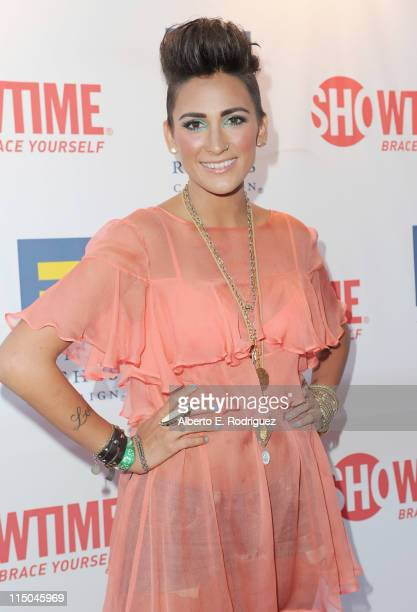 TV personality Romi Klinger arrives to the premiere of Showtime's 'The Real L Word' on June 1 2011 in West Hollywood California