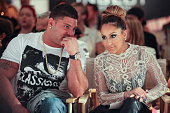 TV personality Ronnie OrtizMagro and actress Adrienne Bailon attend Sammi Sweetheart Spring 2013 at the Metropolitan Pavilion on September 10 2012 in...
