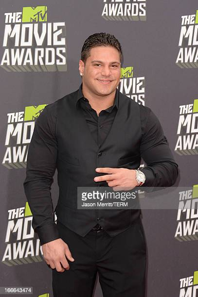 TV personality Ronnie OrtizMagro arrives at the 2013 MTV Movie Awards at Sony Pictures Studios on April 14 2013 in Culver City California