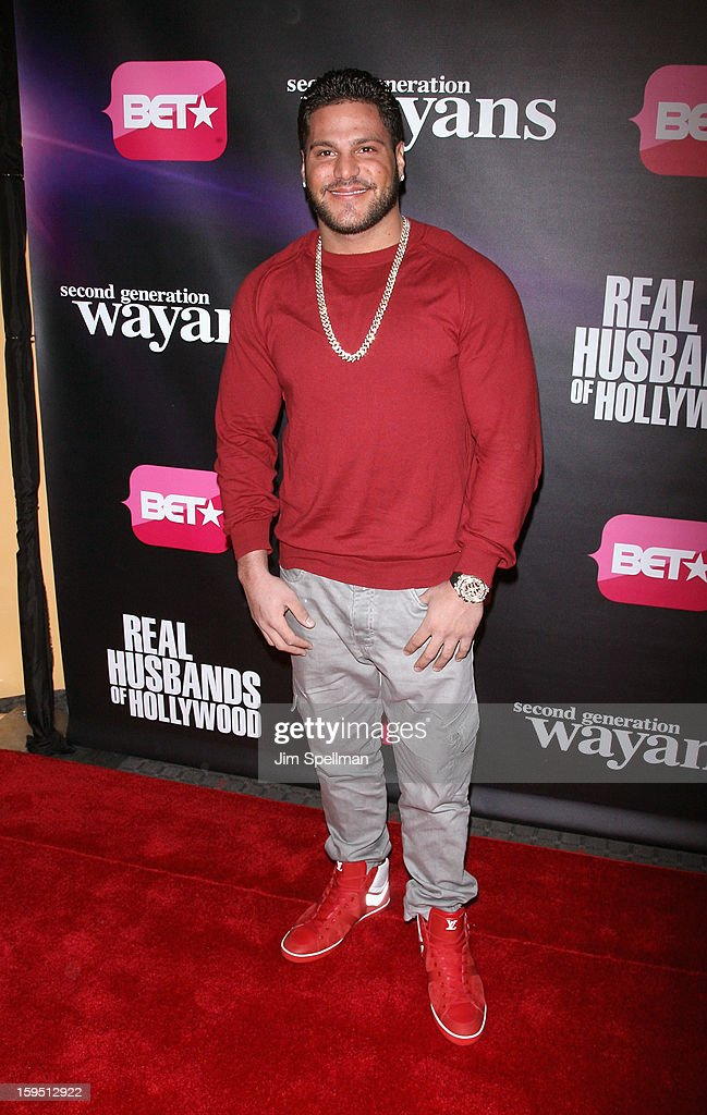 TV Personality Ronnie Ortiz-Magro attends the 'Real Husbands Of Hollywood' & 'Second Generation Wayans' screening at SVA Theatre on January 14, 2013 in New York City.