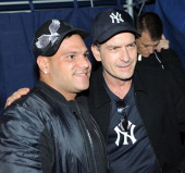 TV personality Ronnie OrtizMagro from MTV's 'Jersey Shore' and actor Charlie Sheen attend the kick off party for Fridays at Dragonfly hosted by Juice...