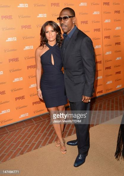 TV personality Rosci Diaz and actor Eddie Murphy attend Debra Lee's PreBET Awards Celebration during the 2012 BET Awards at Union Station on June 30...