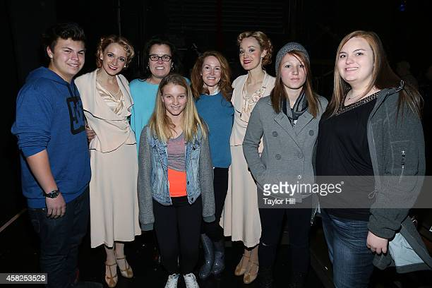 TV personality Rosie O'Donnell wife Michelle Rounds and family visit the revival of 'Side Show' on Broadway at the St James Theater on November 1...