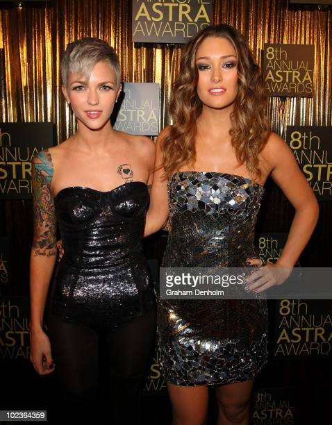 TV personality Ruby Rose and model and presenter Erin McNaught arrive at the 8th annual ASTRA Awards at the State Theatre on June 24 2010 in Sydney...