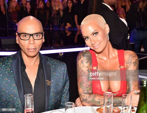 TV personality RuPaul and model Amber Rose attend the 2017 MTV Movie And TV Awards at The Shrine Auditorium on May 7 2017 in Los Angeles California