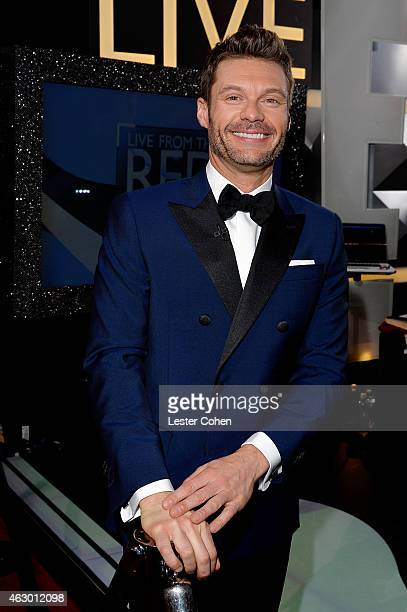 TV personality Ryan Seacrest attends The 57th Annual GRAMMY Awards at the STAPLES Center on February 8 2015 in Los Angeles California
