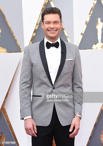TV personality Ryan Seacrest attends the 88th Annual Academy Awards at Hollywood Highland Center on February 28 2016 in Hollywood California