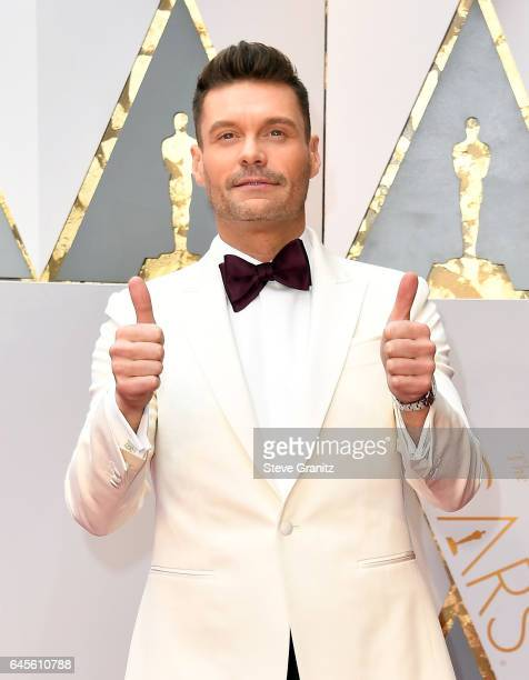 Personality Ryan Seacrest attends the 89th Annual Academy Awards at Hollywood Highland Center on February 26 2017 in Hollywood California