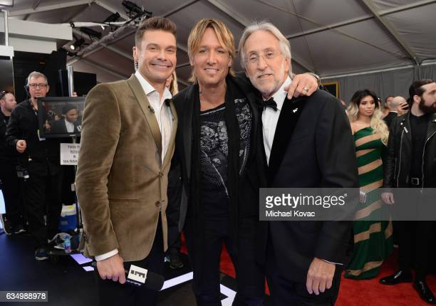 TV personality Ryan Seacrest recording artist Keith Urban and President/CEO of The Recording Academy and GRAMMY Foundation President/CEO Neil Portnow...