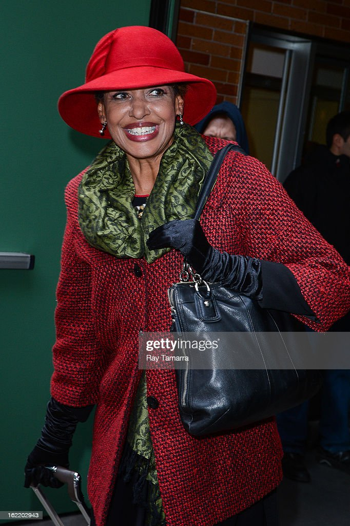 TV personality Sally-Ann Roberts leaves the 'Good Morning America' taping at ABC Times Square Studios on February 20, 2013 in New York City.