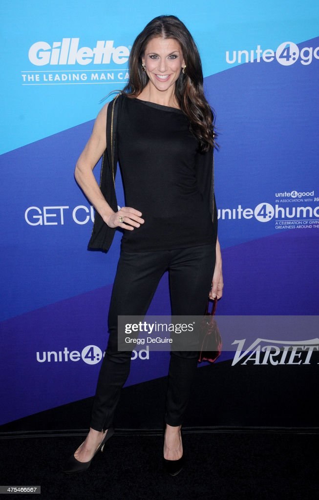 TV personality Samantha Harris arrives at the 1st Annual Unite4:humanity event hosted by Unite4good and Variety at Sony Studios on February 27, 2014 in Los Angeles, California.