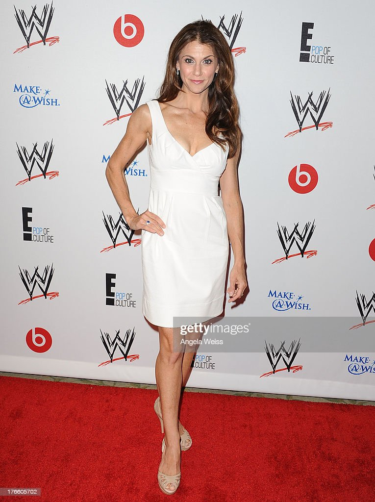 TV personality <a gi-track='captionPersonalityLinkClicked' href=/galleries/search?phrase=Samantha+Harris+-+Television+Personality&family=editorial&specificpeople=227351 ng-click='$event.stopPropagation()'>Samantha Harris</a> arrives at WWE and E! Entertainment's 'Superstars For Hope' at Beverly Hills Hotel on August 15, 2013 in Beverly Hills, California.