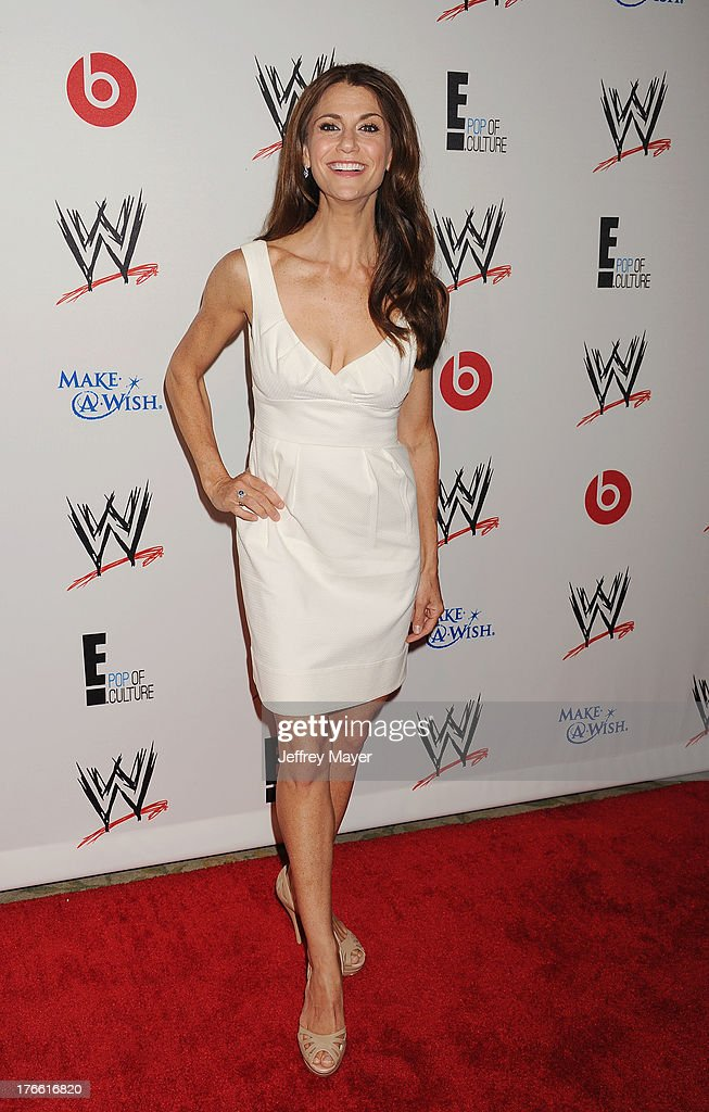 TV personality <a gi-track='captionPersonalityLinkClicked' href=/galleries/search?phrase=Samantha+Harris+-+Television+Personality&family=editorial&specificpeople=227351 ng-click='$event.stopPropagation()'>Samantha Harris</a> attends WWE & E! Entertainment's 'SuperStars For Hope' at the Beverly Hills Hotel on August 15, 2013 in Beverly Hills, California.