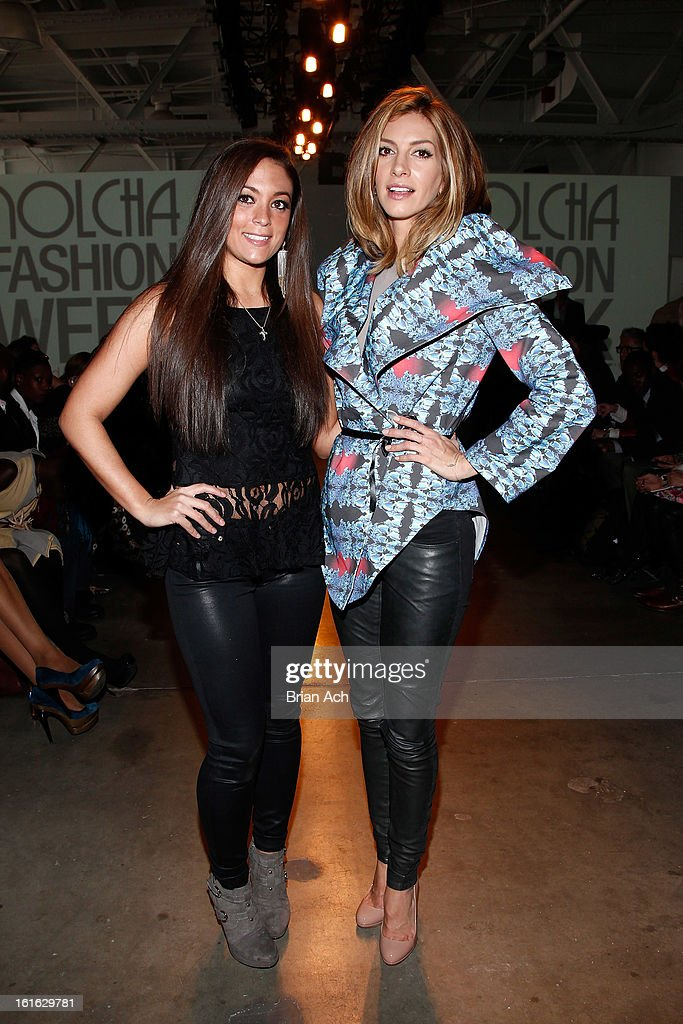 TV personality Sammi 'Sweetheart' Giancola (L) and actress Dawn Olivieri attend Nolcha Fashion Week New York 2013 presented by RUSK at Pier 59 Studios on February 13, 2013 in New York City.