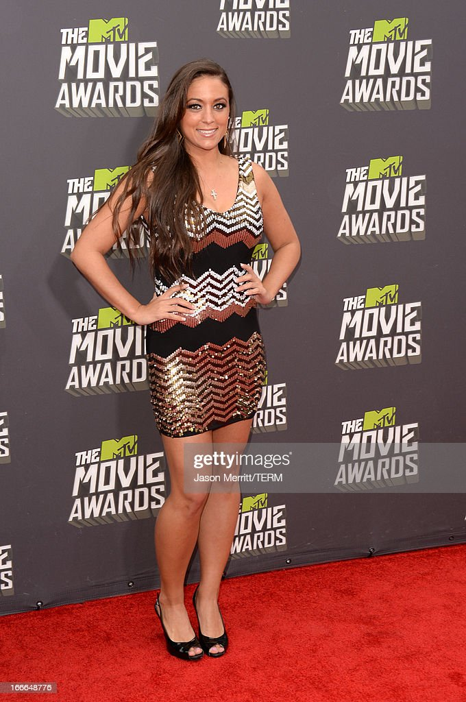 TV personality Sammi 'Sweetheart' Giancola arrives at the 2013 MTV Movie Awards at Sony Pictures Studios on April 14, 2013 in Culver City, California.
