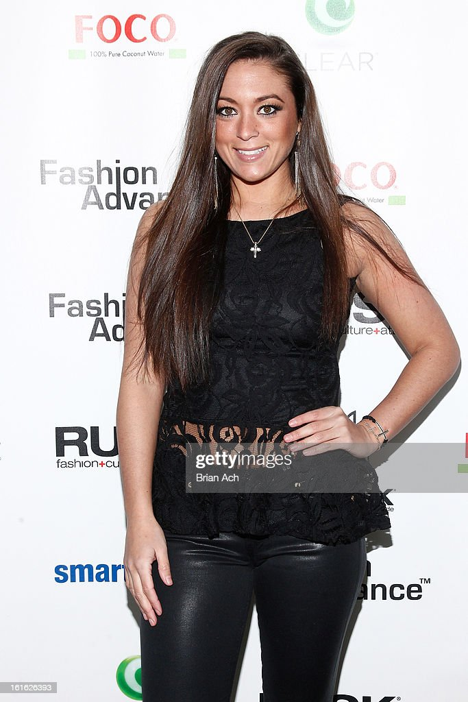 TV personality Sammi 'Sweetheart' Giancola attends Nolcha Fashion Week New York 2013 presented by RUSK at Pier 59 Studios on February 13, 2013 in New York City.